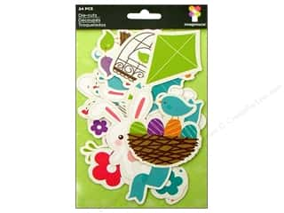 Imaginisce Die Cut Hippity Icon Spring Time (3 packages)