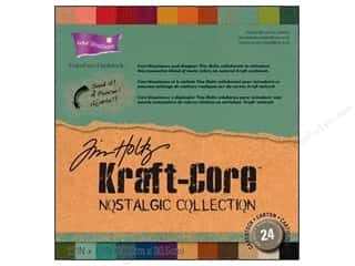 "Clearance Coredinations Cardstock Packs: Coredinations Cardstock Pack 12""x 12"" Tim Holtz Kraft-Core Nostalgic"