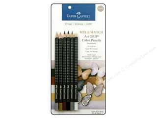 Faber Castell FaberCastell Accessories: FaberCastell Art GRIP Color Pencils Neutral