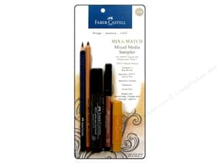 Colored pencils: FaberCastell MM Mixed Media Sampler Set Neutral