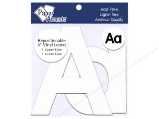 "Lint Removers $2 - $3: Paper Accents Adhesive Vinyl 4 in. Letters ""Aa"" 2 pc. Removable White"