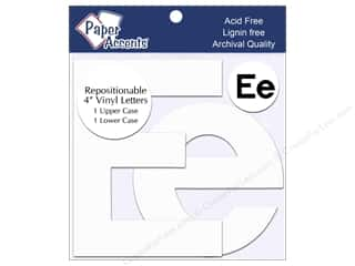 "Paper Accents Adhesive Vinyl Letters Removable 4"" Ee White 2pc"