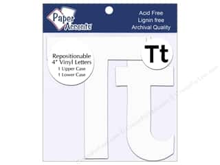 "Paper Accents Adhesive Vinyl Letters Removable 4"" Tt White 2pc"