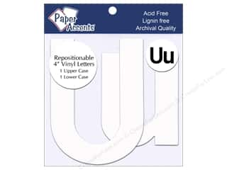 "Paper Accents Adhesive Vinyl Letters Removable 4"" Uu White 2pc"