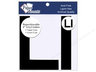 Paper Accents Adh Vinyl Letter Remov 4&quot; Ll Blk 2pc