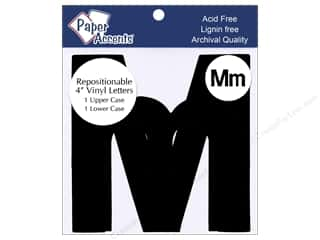 "Paper Accents Adh Vinyl Letter Remov 4"" Mm Blk 2pc"