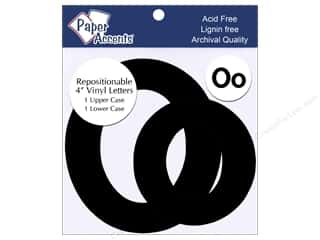 "Paper Accents: Adhesive Vinyl 4 in. Letters ""Oo"" 2 pc. Removable Black"