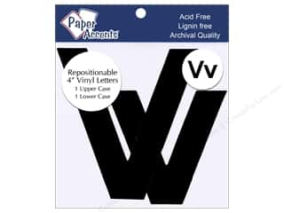 "Paper Accents Adhesive Vinyl Letters Removable 4"" Vv Black 2pc"