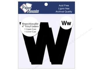 Paper Accents Adh Vinyl Letter Remov 4&quot; Ww Blk 2pc