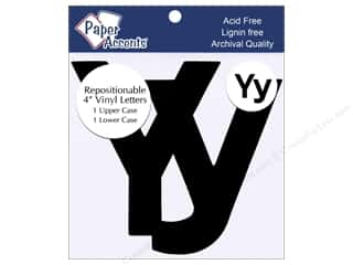 "Y: Adhesive Vinyl 4 in. Letters ""Yy"" 2 pc. Removable Black"