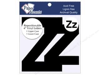 "Paper Accents Adhesive Vinyl Letters Removable 4"" Zz Black 2pc"