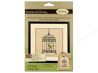 Dimensions Embr Kit Stamp 11x11&quot; Vintage Birdcage