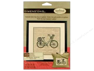 "weekly specials Dimensions Applique Kit: Dimensions Embr Kit Stamp 11x11"" Classic Bicycle"