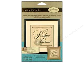 "weekly specials Dimensions Applique Kit: Dimensions Embr Kit Stamp 10""x10"" Hope Sentiment"