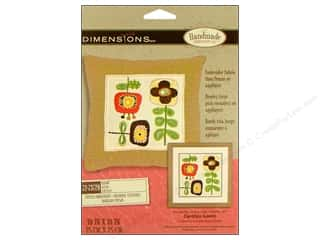 "acrylic yarn: Dimensions Crewel Embr Kit 10""x 10"" Blooms"