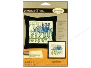 "Framing Dimensions: Dimensions Crewel Embroidery Kit 10""x 10"" Owl"