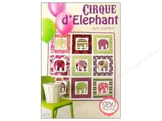 Books & Patterns Fat Quarter / Jelly Roll / Charm / Cake Patterns: Sew Much Ado Cirque D' Elephant Pattern