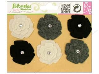 Feltables Fashion Embel Spinning Flower Neut 6pc