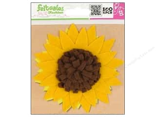 Clearance Feltables Fashion Embellishment: Feltables Fashion Embel Corsage Sunflower Yellow