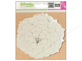 Clearance Feltables Fashion Embellishment: Feltables Fashion Embel Corsage Camelia White
