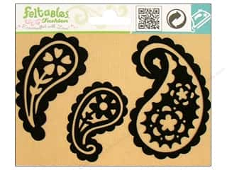 Feltables: Feltables Fashion Iron On Paisley 3pc