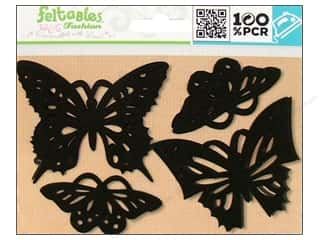 Feltables Black: Feltables Fashion Iron On Butterfllies 4pc