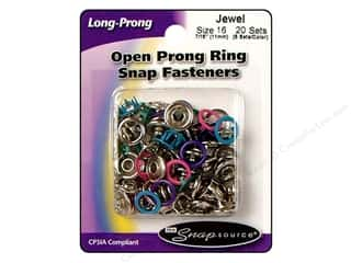 Snapsource Blue: Snapsource Snap Capped Prong Ring Size 16 Pearl Multi Jewel