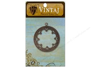 Charms Vintaj: Vintaj Charm Framed Scrollwork Natural Brass