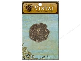 Vintaj Charm Daisy Maiden Nat Brass