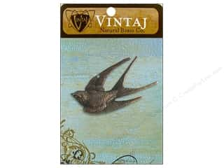 Vintaj Charm Diving Sparrow Nat Brass