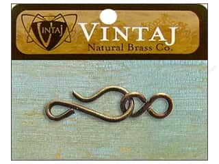 Vintaj Finding Clasp Hook & Eye 11mm Nat Brass