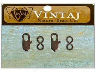 Clearance Blumenthal Favorite Findings: Vintaj Finding Clasp Lobster 6mm Nat Brass 2pc