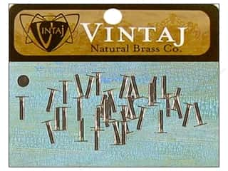 "Vintaj Finding Nail Head Rivet 1/4"" Nat Brass 40pc"