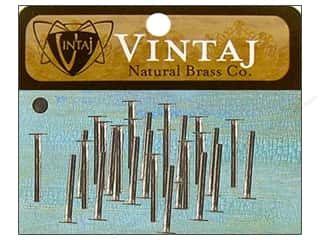 Vintaj Finding Nail Head Rivet 1/2&quot; Nat Brass 30pc