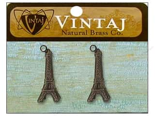 Vintaj Charm Eiffel Tower Nat Brass 2pc