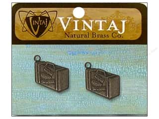 Jewelry Making Supplies Doodlebug Sticker: Vintaj Charm Journey Case Natural Brass 2pc