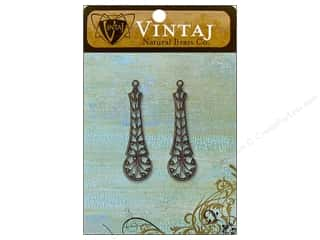 Vintaj Charm Damascus Nat Brass 2pc