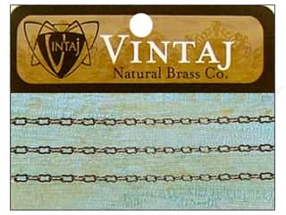 "Clearance Blumenthal Favorite Findings: Vintaj Finding Chain 24"" Fine Orn 3.5mm Nat Brass"