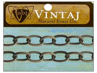 "Vintaj Finding Chain 16"" EtchCable 6.5mm Nat Brass"