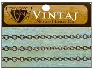 Vintaj Finding Chain 24&quot; Cable 3.5mm Nat Brass