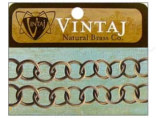 Vintaj Finding Chain 14&quot; Round Link 10mm Nat Brass