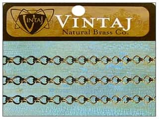 Vintaj Finding Chain 24&quot; Ladder 3.5mm Nat Brass