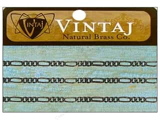 "Vintaj Finding Chain 18"" Figaro 2mm Nat Brass"