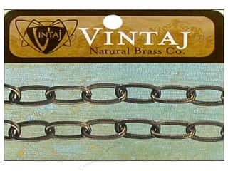 Vintaj Finding Chain 16&quot; Oval 11.5mm Nat Brass