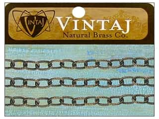 Vintaj Finding Chain 22&quot; EtchCable 4.5mm Nat Brass
