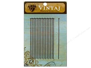 "Vintaj Finding Head Pin 2"" Nat Brass 20pc"