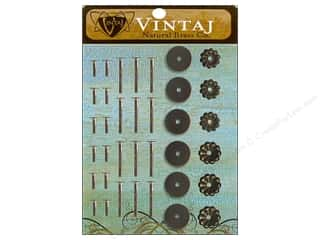 Vintaj Finding Washers Decorative Nat Brass 36pc
