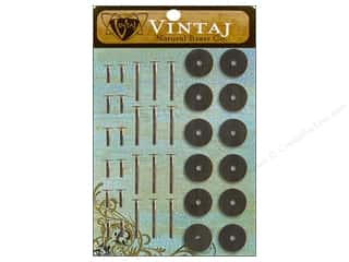Findings: Vintaj Findings Washers Standard Natural Brass 36pc