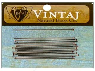 "Vintaj Finding Head Pin Pearl 1.5"" Nat Brass 30pc"
