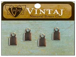 Clearance Blumenthal Favorite Findings: Vintaj Finding Crimp End 9mm Nat Brass 6pc